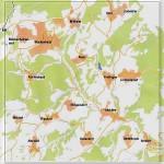 Hier die Gemeinde Blankenheim - mit ihren 17 Orten - auf einen Blick - Foto ULB -